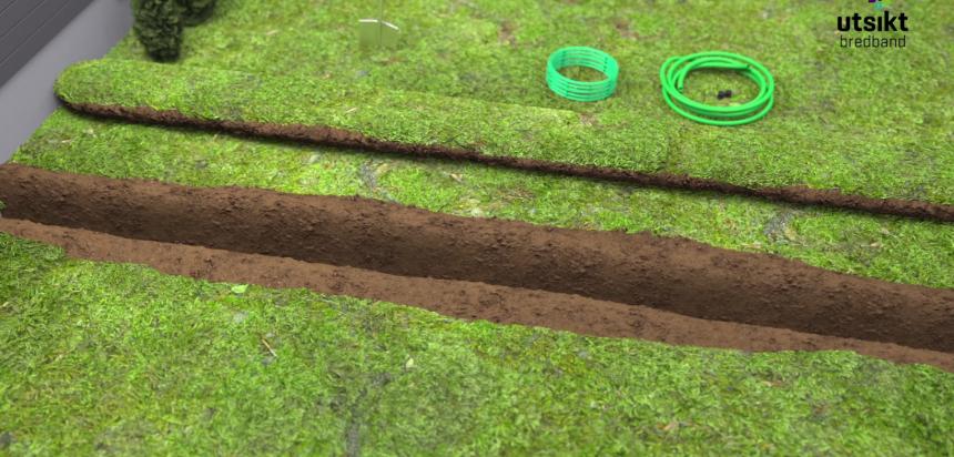 gräva för fiber