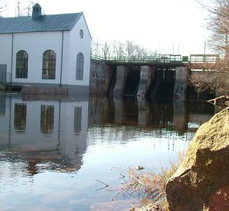 Flemminge vattenkraftstation. Foto.