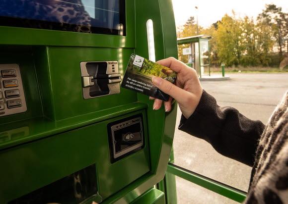 Tanka med Svensk Biogaskortet