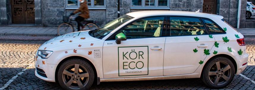 De vita lövprydda bilarna har blivit ett kännetecken för Kör Eco.