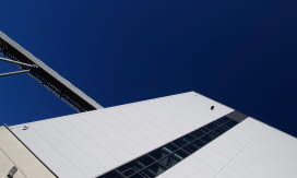 Mjölby kraftvärmeverk fasad